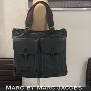 Auth Marc By Marc Jacobs canvas tote bag purse